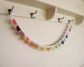 Scalloped Banner or Bunting, Mini Size in Rainbow Colors (LAST ONE)