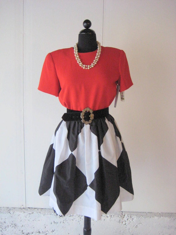 Fantastic VINTAGE 80'S Designer Bill Blass Evening Party Dress Sz 12 New Old Stock