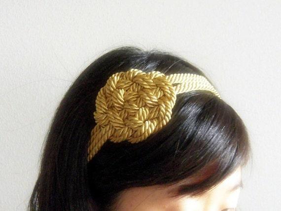 headband - nautical sailor flower knot