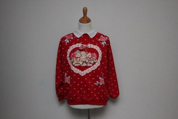 Vintage Love Bear Peter Pan Collar Sweater