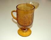 Vintage Tiara Amber Glass Coffee Mug