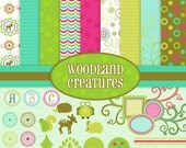 Woodland Creatures Digital Scrapbooking Kit