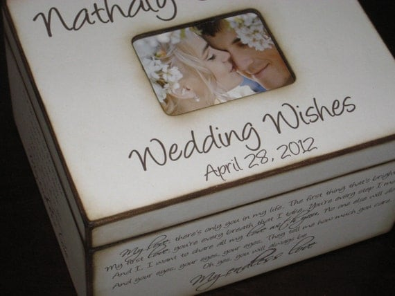 Wedding Present Box Elder Lyrics : Personalized Wedding Wishes Box with Photo Display Wedding