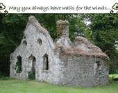 Irish Blessing Photo Greeting card all occassion