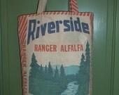Grainsack Market Tote Bag Lynnville Seed Co. Iowa Alfalfa Feed Sack