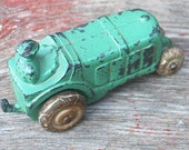 SALE Antique Cast Iron Toy Tractor Man Gift Stamped USA Rubber Wheels