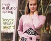 INTERWEAVE KNITS Spring 2005 Lace Shawl Capelets Sweaters Brioche Stitch