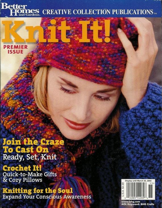 Knitting Or Crochet Better : Better homes and gardens knit it knitting crochet