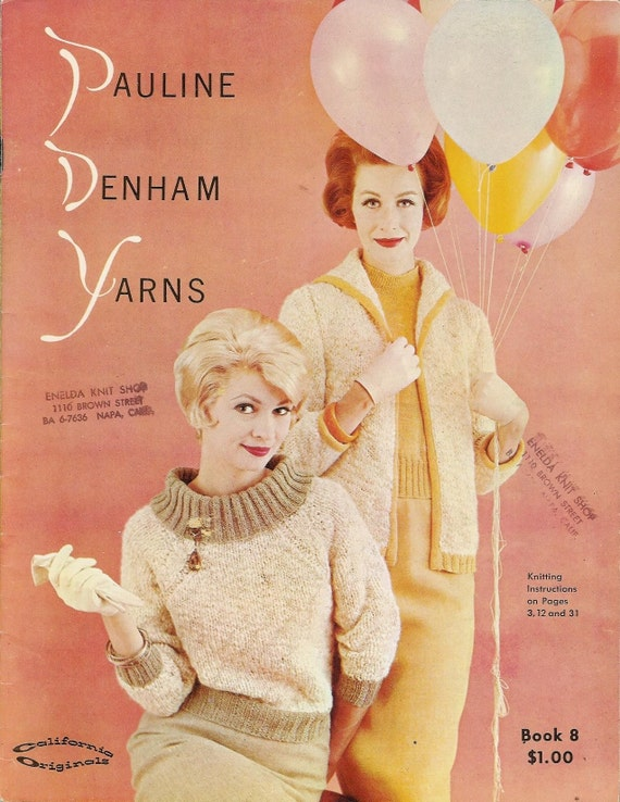 Vintage 1960s Pauline Denham Originals Knitting Patterns Book