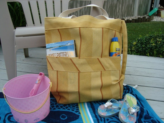 Large Beach Bag, Water Resistant Large Tote, Family Size Tote