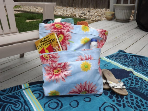 Large Beach Bag, Extra Large Tote, Pool Bag, Family Size Tote