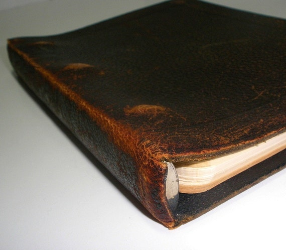 Vintage Leather 3 Ring Binder By UniquelyYoursbyCil On Etsy