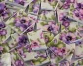 20% Coupon Mosaic Tiles Royal Danube Purple Pansy Chintz