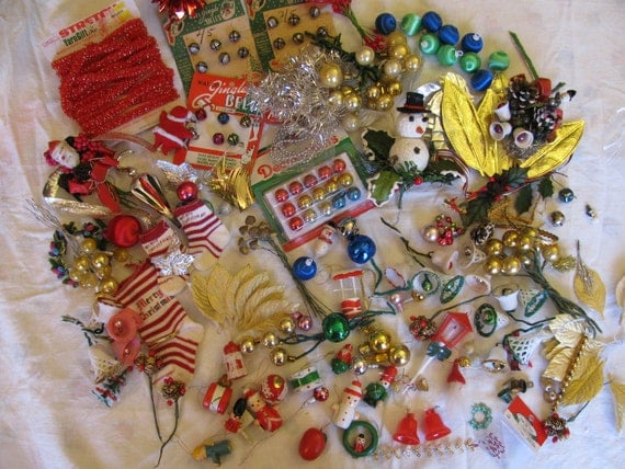 large lot of vintage christmas craft supplies by gaelianna