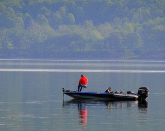 "Fishing photography Home and Garden Lakes upstate NY 5"" x 7' original fine art photographic print"