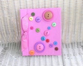 Pink Button Photo Album, Circles, Bows