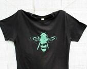 Mens Honey Bee Tshirt - Green Bee - Black Alternative Apparel - Mens  - Unisex - Small, Medium, Large, XL, XXL, 3XL - Clothing