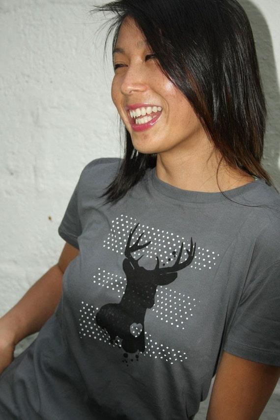 Tshirt - Deer - American Apparel - 2x