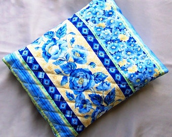 Blue Floral Hot or Cold Pocket Pouch-Helping Hand Pocket Pouch