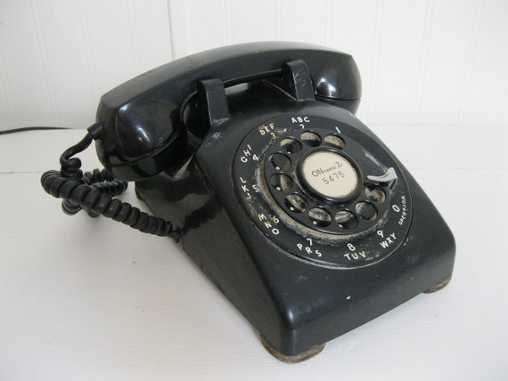 SALE...Vintage 1940's 1950's Bell Systems Western Electric Bakelite Telephone Rotary