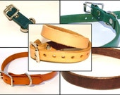 "Leather Dog Collar - 3/4"" Wide - Choose a Color"