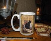 Magical Black Cat 15 oz coffee mug