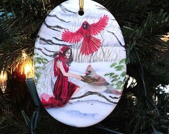 Winter Feast Fairy Ornament