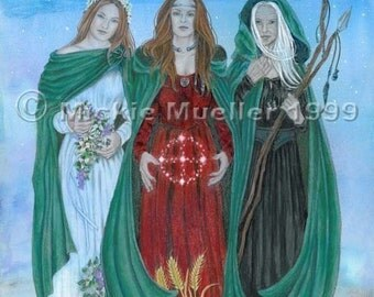 Blessings of the Triple Goddess Print