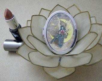 Steampunk Fairy Compact Fantasy Art Mirror