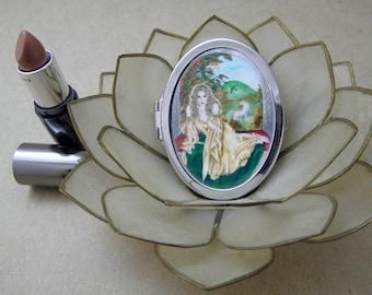 Celtic Goddess Rhiannon Compact Fantasy Art Mirror