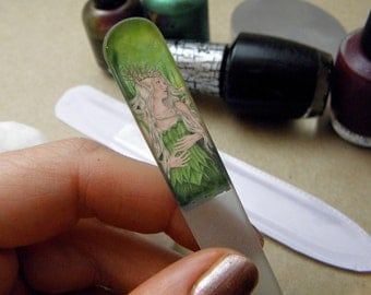 Titania Green Fairy Crystal Glass Nail File