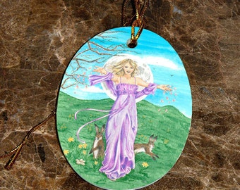 Goddess Ostara Car Charm / Ornament