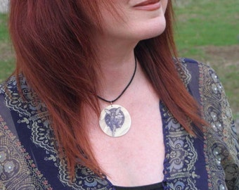 Celtic Heather Fairy Magic,  Mother of Pearl Amulet by Mickie Mueller