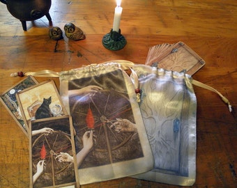 The Fates Spindle, The Hidden Path Oracle or Tarot Bag