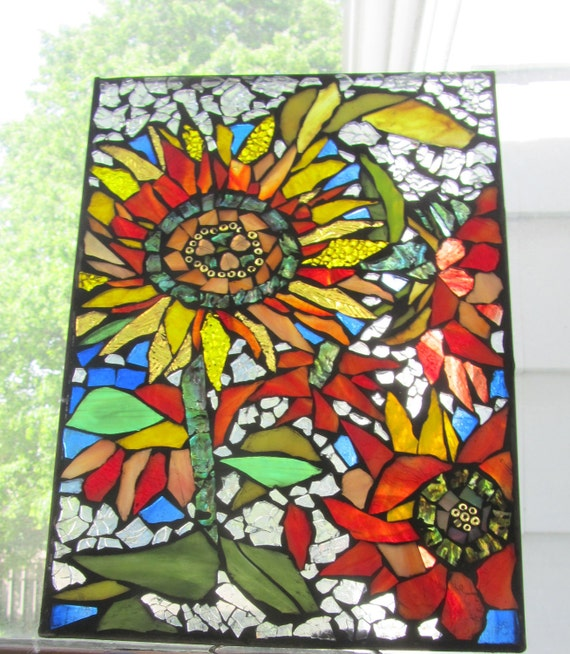 Mirror With Flowers Glued On Marilyn Gossett Designs