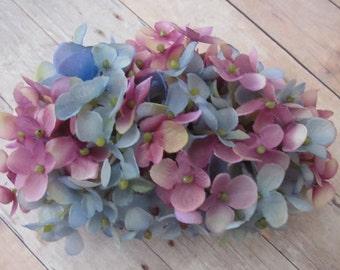 Mix Light Purple and Blue Hydrangea Hair Flower Comb -Weddings-