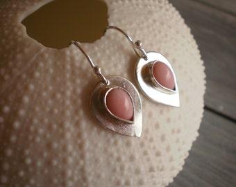 Silver Opal Teardrop Earrings