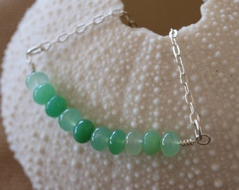 Gemstone Bead Sterling Silver Necklace