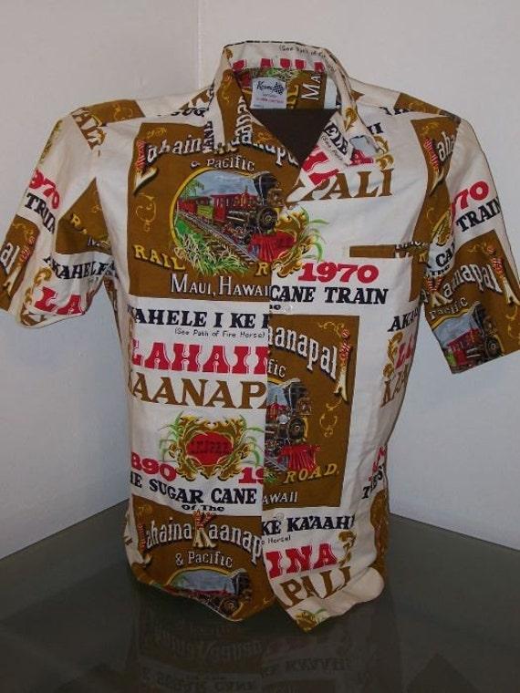 Vintage KEONE Sportwear of Hawaii Mens Railroad Shirt 1970