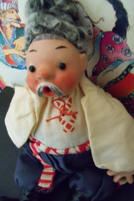 Vintage Russian Ukrainian Man Peasant Doll