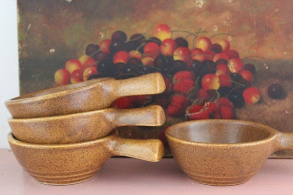 RESERVED for mulaambu Monmouth Stoneware Crock Set of Four - Three Small Plates - Stoneware Dinner Plate- Maple Leaf