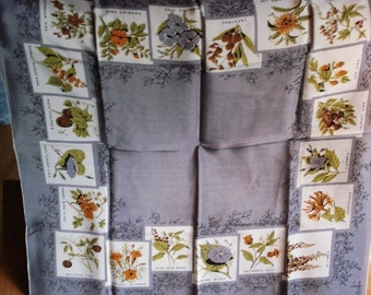 Silk Symphony Square Scarf with Flowering Vine Motif