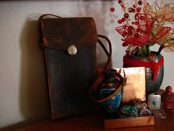 Vintage Kodak  Narrow Leather Pouch Bag