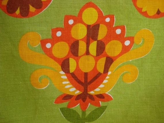 Vintage Zucchi Tea Towel in Retro Colors