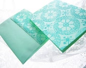 Turquoise Petunia Card