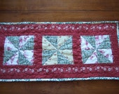 Christmas Pinwheels Quilted Table Runner