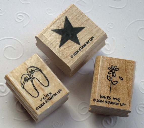 Rubber Stamps Flip Flops Star & Daisy Stampin' Up