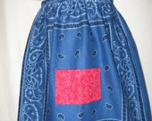 Blue and Red Bandana Halter Dress or Top
