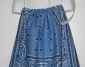 Simple Blue Bandana Dress