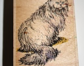 Persian Cat Rubber Stamp